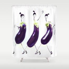 Edible Ensembles: Eggplant Shower Curtain