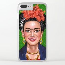 Smile Frida Clear iPhone Case