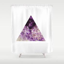 amethyst triangle Shower Curtain