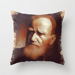 George Bernard Shaw, Playwright Throw Pillow