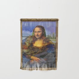 Mona (Kevin) Lisa : Satire + Contemporary Fine Art Wall Hanging