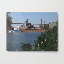 Hamburg Harbour 2 Metal Print