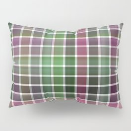 Pink Roses in Anzures 6 Plaid 2 Pillow Sham