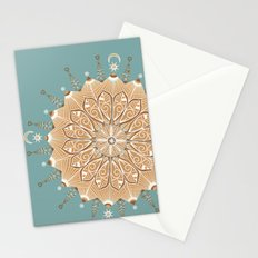 Sand and Turquoise Seashore Mandala Stationery Cards