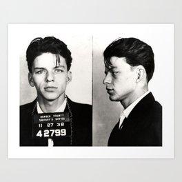 Frank Sinatra Mug Shot  Art Print