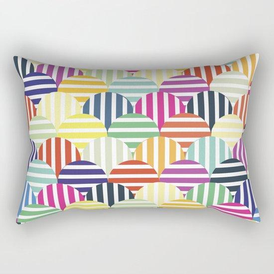 Colorful Circles IV Rectangular Pillow