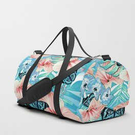 Tropical Spring Aqua Duffle Bag