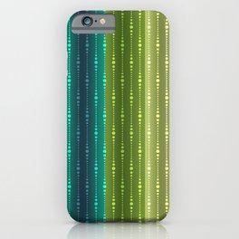 Jewel Tone Color Stripes iPhone Case