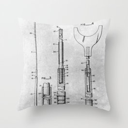 Weighted handle Throw Pillow