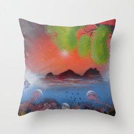 Peek Of The Reef Throw Pillow
