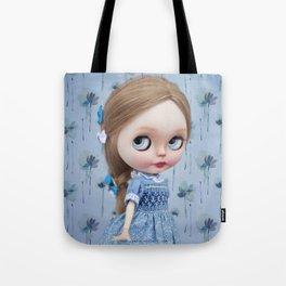 ERREGIRO BLYTHE DOLL NONNA BLUE FLOWERS Tote Bag