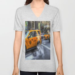 New York Taxis Unisex V-Neck