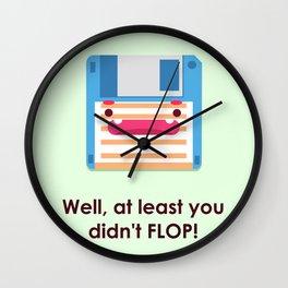 Drop the Flop Wall Clock