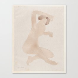 Auguste Rodin Nude Figure Lithograph #9 Canvas Print