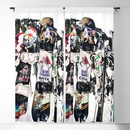 Snowboard Season Blackout Curtain