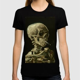 Vincent van Gogh Head of a Skeleton with a Burning Cigarette T-shirt