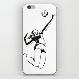 Beach volleyball player iPhone Skin