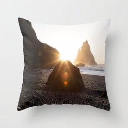 Sunny Rock Throw Pillow