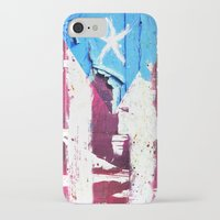 puerto rico iPhone & iPod Cases featuring Puerto Rico Flag by Fresh & Poppy