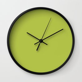 Simple Solid Color Avocado Green All Over Print Wall Clock