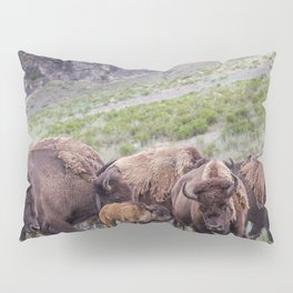 Buffalo On The Move In Yellowstone Pillow Sham
