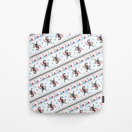 KRAMPUS PATTERN (White) Tote Bag