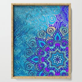 V13 Colored Floral Abstract ART Painting Serving Tray