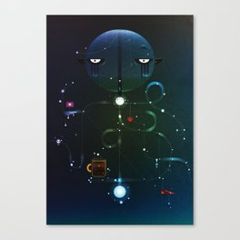 Self Portrait: Raid Boss, Coffee and Constellations Canvas Print
