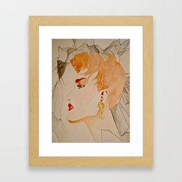 Fashion Watercolor  Framed Art Print