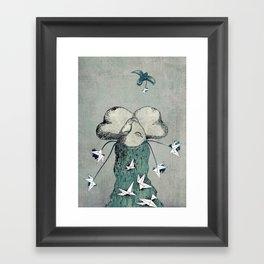 Origami's passion -  a collaboration between Christelle Guilhen and Gwenola de Muralt Framed Art Print