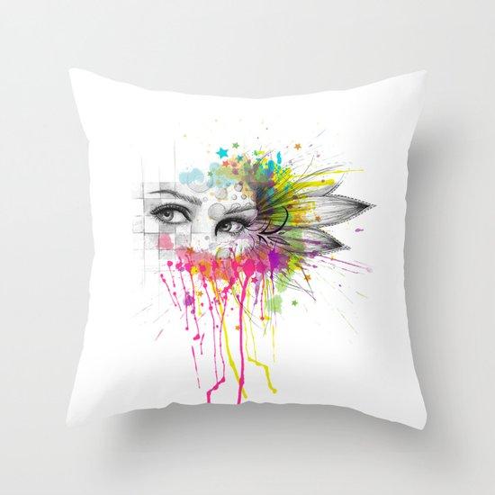 Beautiful Flower Eyes Throw Pillow