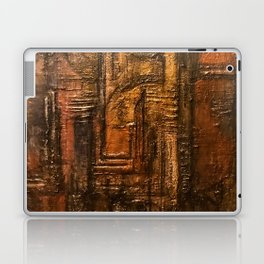 Rich Brown Bronze Heavy Textured Acrylic Painting Laptop & iPad Skin