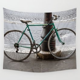 Bicycle in Rome Wall Tapestry