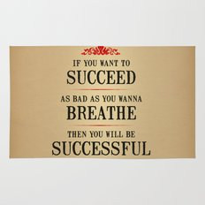 How bad do you want to be successful - Motivational poster Rug