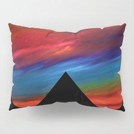 Fire Sky - Pyramids Silhouette Pillow Sham