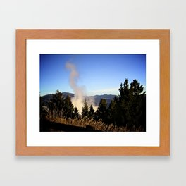 Steamy Morning Framed Art Print