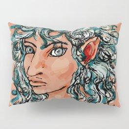 Female elf profile 1d ver. 2 Pillow Sham
