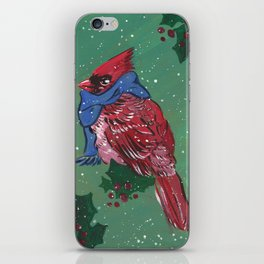 A Christmas Cardinal iPhone Skin