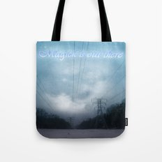 Midnight magick with title Tote Bag