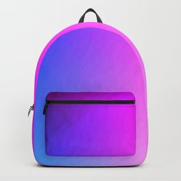 Blue purple to pink ombre vertical flames Backpack