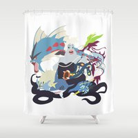 ursula Shower Curtains featuring Team Ursula by Citron Vert