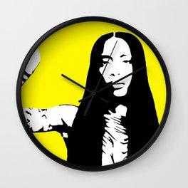 Erykah Stencil Wall Clock