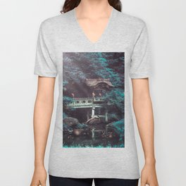 In the pool with head Unisex V-Neck