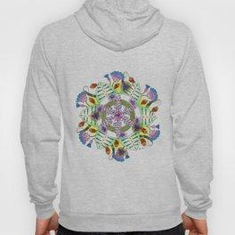 Foxgloves and Thistles Mandala Hoody