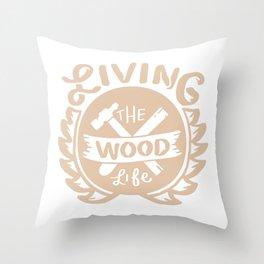 Lumbering Carpenter Woodworking Throw Pillow