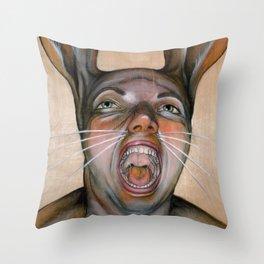 Bunny Boy Throw Pillow