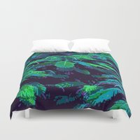 fabric Duvet Covers featuring Tropical Fabric by Glenn Designs