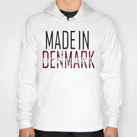 denmark Hoodies featuring Made In Denmark by VirgoSpice