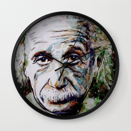 Albert Einstein - brainstorm Wall Clock