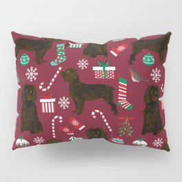 Boykin Spaniel christmas pattern dog breed presents stockings candy canes Pillow Sham